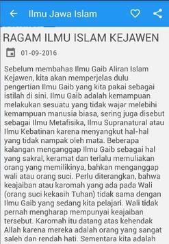 Ilmu Jawa Islam poster