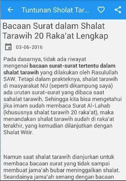 Tuntunan Sholat Tarawih Witir apk screenshot