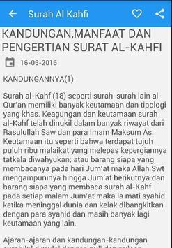 Surah Al Kahfi Arab Latin apk screenshot