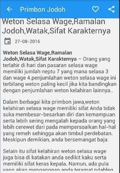 Primbon Ramalan Jodoh apk screenshot