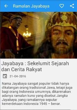 Ramalan dan Sejarah Jayabaya apk screenshot