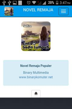Novel Remaja 2016 apk screenshot