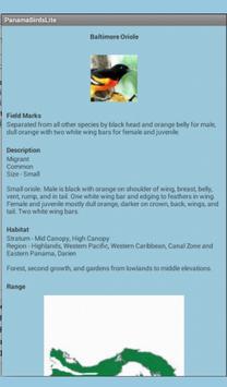 Panama Birds Lite Field Guide apk screenshot