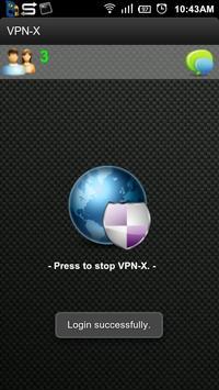 VPN-X Client apk screenshot
