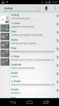 Free Dict Brazilian English apk screenshot