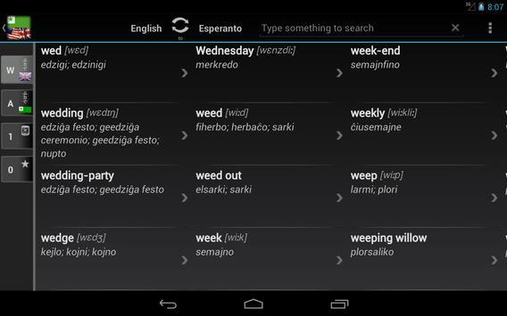 Free Dict Esperanto English apk screenshot