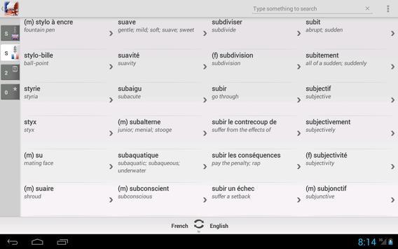 Free Dict French English apk screenshot