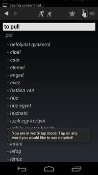 Free Dict Hungarian English apk screenshot