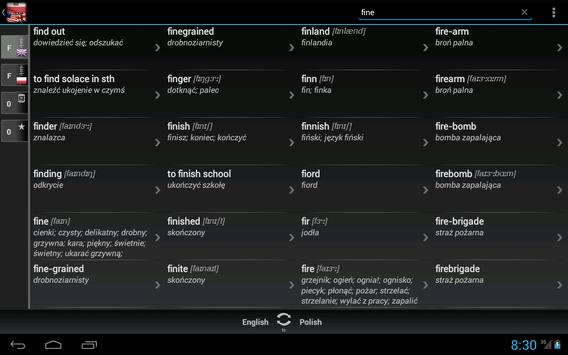 Free Dict Polish English apk screenshot