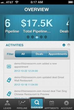 Bizness CRM apk screenshot