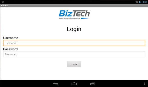Biztech1 apk screenshot