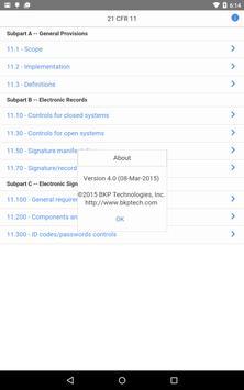 21 CFR 11 Pocket Guide apk screenshot