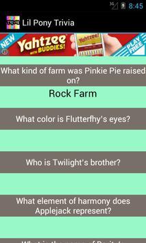 Lil Pony Trivia poster