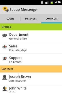 Bopup Messenger apk screenshot