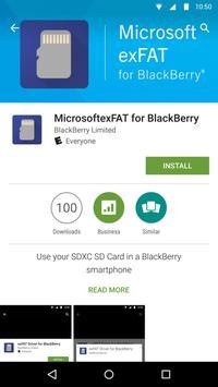 MicrosoftexFAT for BlackBerry poster