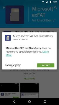 MicrosoftexFAT for BlackBerry apk screenshot
