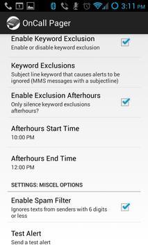 OnCall Pager & Text Alerter apk screenshot