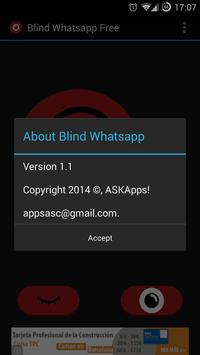 Blind for Whatsapp Free apk screenshot