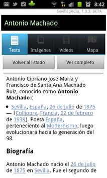 Sevillapedia apk screenshot