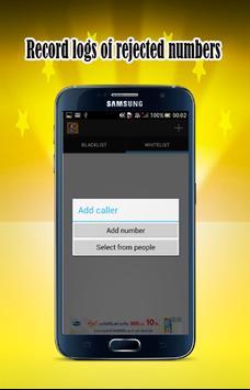 Calls blacklist SMS blocker poster