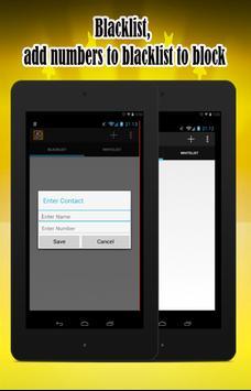 Calls blacklist SMS blocker apk screenshot