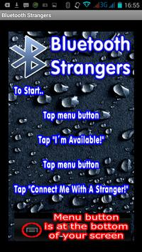 Bluetooth Strangers Chat poster