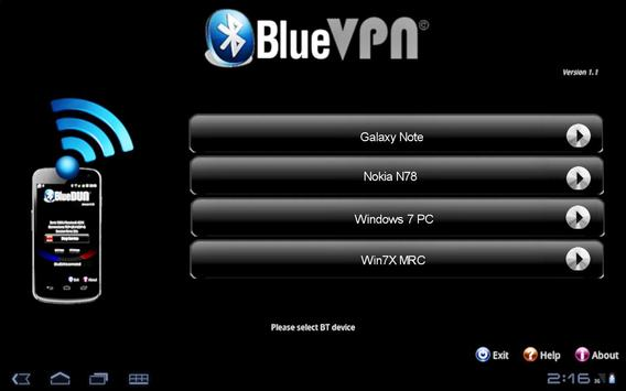 BlueVPN [DUN client] <ICS poster