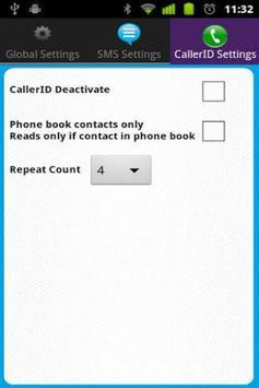 Talking Caller ID & SMS free apk screenshot