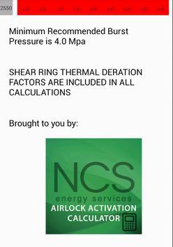 NCS Airlock Hydrostatic Calc apk screenshot