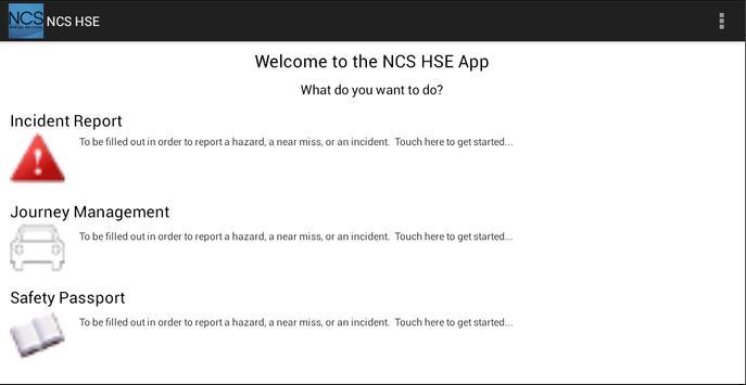 NCS HSE apk screenshot