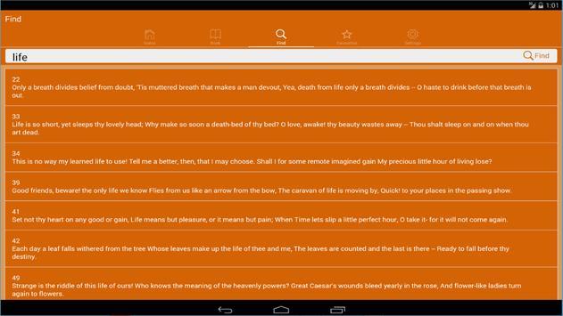 Rubaiyat of Omar Khayyam Free apk screenshot