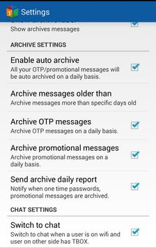 TBOX - Clean and Organized SMS apk screenshot