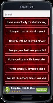 Love Romantic SMS Messages apk screenshot
