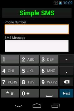 Simple SMS apk screenshot