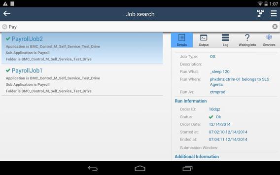 BMC Control-M Self Service apk screenshot