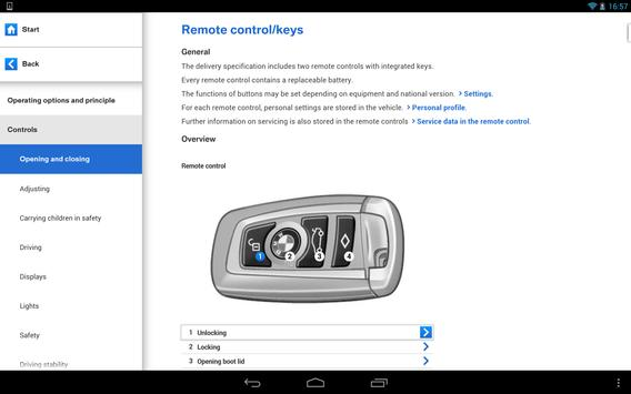 BMW Driver's Guide apk screenshot