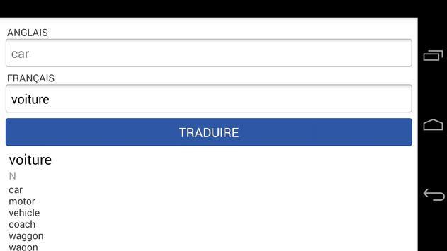 French English Translation apk screenshot