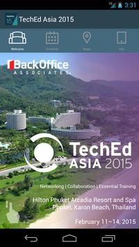 BackOffice TechEd Asia 2015 poster