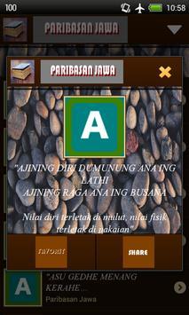 Peribahasa Jawa apk screenshot
