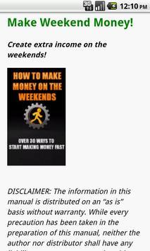 How to Make Money on Weekends apk screenshot