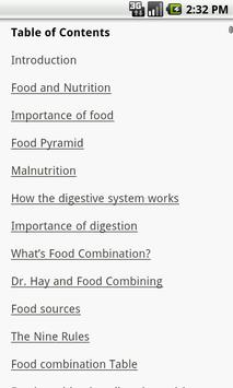 Secrets of Food Combining apk screenshot