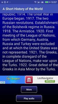 A Short History of the World apk screenshot