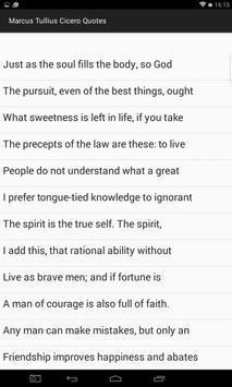 Marcus Tullius Cicero Quotes apk screenshot