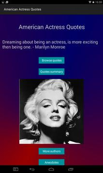 American Actress Quotes poster