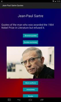 Jean-Paul Sartre Quotes poster