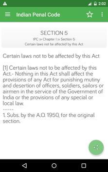 IPC - Indian Penal Code apk screenshot