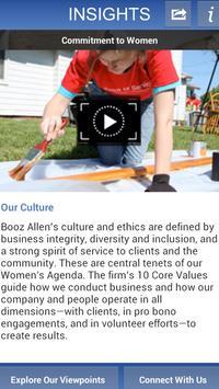 Booz Allen Insights poster