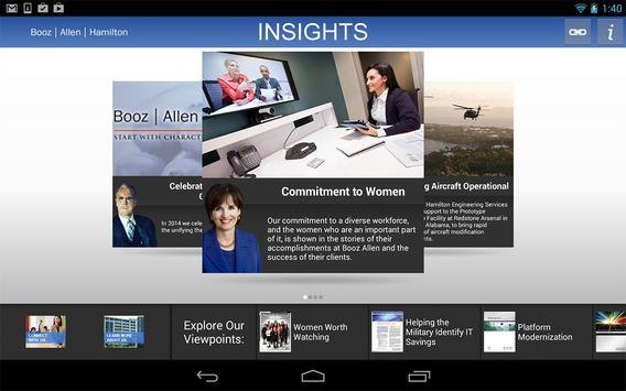 Booz Allen Insights apk screenshot
