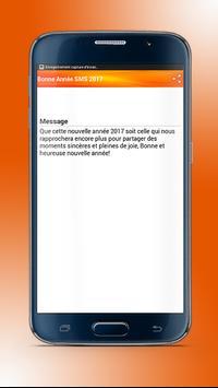 Meilleure Bonne Année SMS 2017 apk screenshot