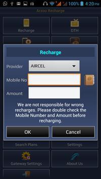Arzoo Recharge apk screenshot